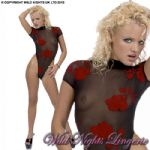 Red Rose Sheer BODY STOCKING